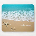 Beach With Starfish on Sand Mouse Mat