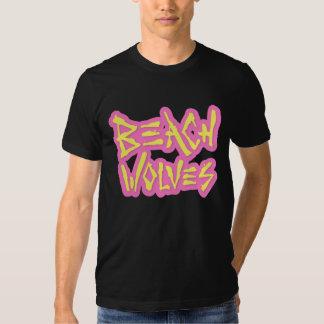 Beach Wolves Logo (Neon Pink / Yellow) Shirt