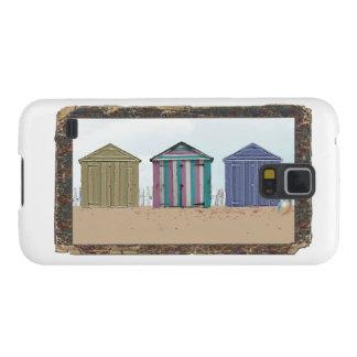 Beach wood frame Beach Huts iPhone cases