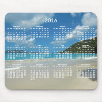 Beach Yearly Calendar 2016 Mousepads Add Photo