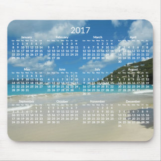 Beach Yearly Calendar 2017 Mousepads Add Photo