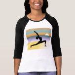 Beach Yoga 3/4 Sleeve Raglan Ladies Top Shirt