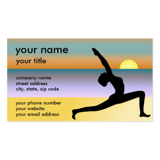 Beach Yoga Instructor Teacher Studio Business Card