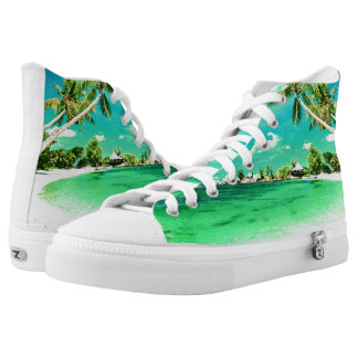 Beach Zipz High Top Printed Shoes