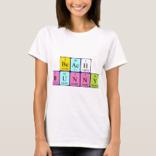 Beach bunny periodic table shirt