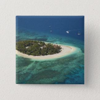 Beachcomber Island Resort, Fiji 15 Cm Square Badge