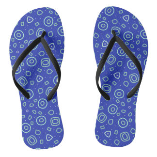 Beachcomber shapes in blue flip flops