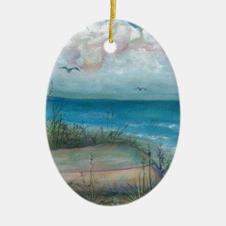 Beache Scene Indian Rocks Beach, FL Art Christmas Ornament