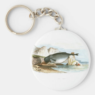Beached Sperm Whale Whaling scene #10 Keychains