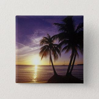 Beaches at Negril, Jamaica 3 15 Cm Square Badge
