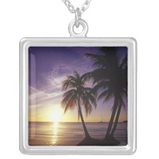 Beaches at Negril, Jamaica 3 Silver Plated Necklace