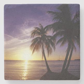Beaches at Negril, Jamaica 3 Stone Coaster