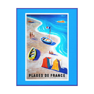 Beaches of France Canvas Print