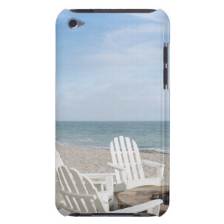 beachfront house with adirondack chairs and iPod Case-Mate cases