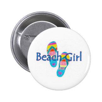 beachgirl 6 cm round badge