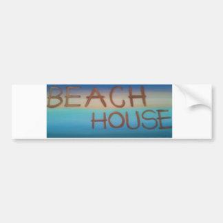 beachhouse car bumper sticker