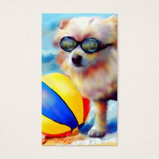 Beachin' (Pomeranian) Business Cards