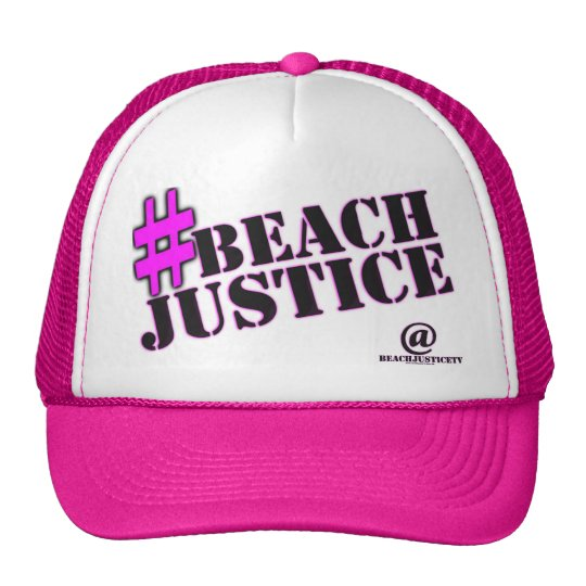 #BEACHJUSTICE Girl'ish Trucker Hat