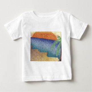 beachmarkerstipple.jpg baby T-Shirt