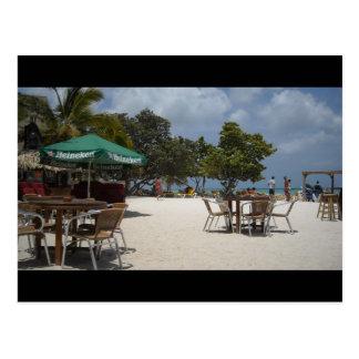 Beachside Cabana Postcard