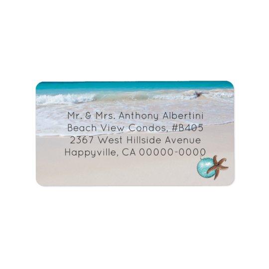 Beachside Living Medium Size Christmas Optional Label