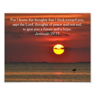 BeachSunset Photo Bible Scripture - Jeremiah 29:11
