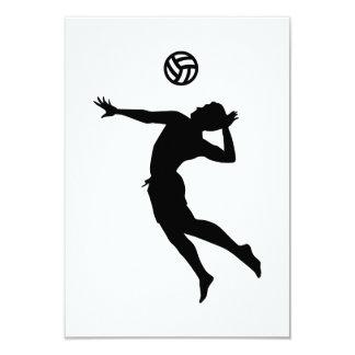 Beachvolleyball player 3.5x5 paper invitation card