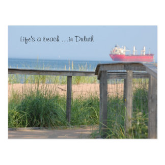 Beachwalk, Life's a beach ...in Duluth Postcard