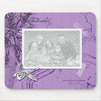 Beachwalker Collage - Starfish purple Mouse Mat