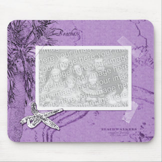 Beachwalker Collage - Starfish purple Mouse Pad