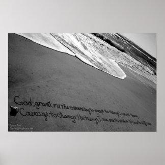 Beachwrite's Serenity Prayer Poster