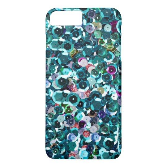 Beachy Aqua Blue Faux Sequins iPhone 8 Plus/7