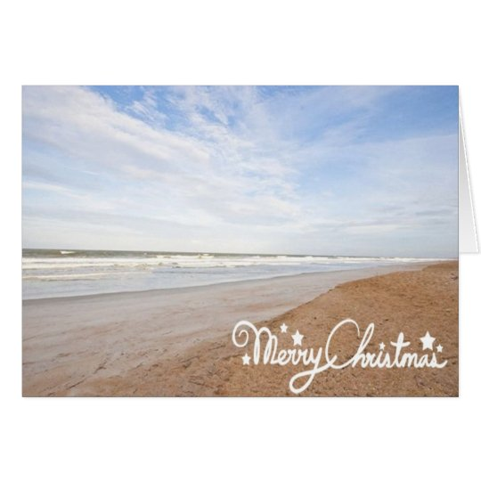 BEACHY CHRISTMAS GREETINGS FROM OUR BEACH CARD