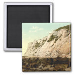 Beachy Head II, Eastbourne, Sussex, England Square Magnet