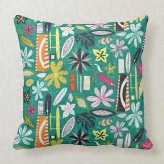 beachy jade throw pillow