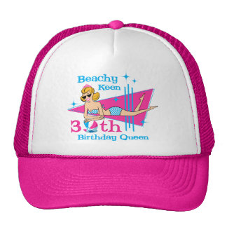 Beachy Keen 30th Birthday Hats