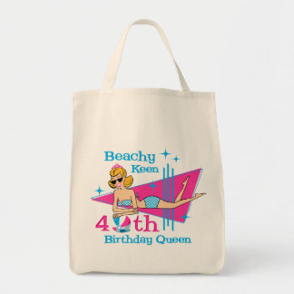 Beachy Keen 40th Birthday Tote Bag