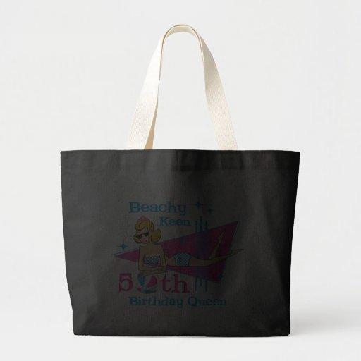 Beachy Keen 50th Birthday Canvas Bags