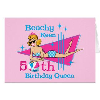 Beachy Keen 50th Birthday Card