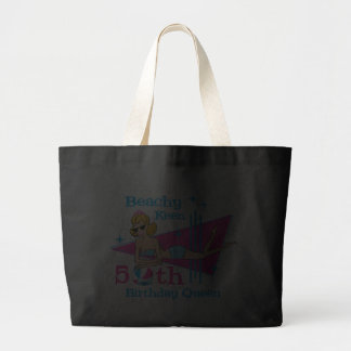 Beachy Keen 50th Birthday Jumbo Tote Bag