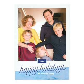Beachy One-Photo Holiday Card