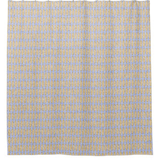 Beachy-Sand-Sky-Contemporary_Beige-Blue_Unisex Shower Curtain