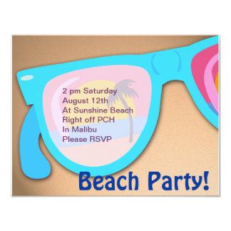 Beachy Shades Beach Party Time Custom Invites