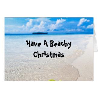 Beachy Summer Christmas Greeting Card