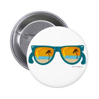 Beachy Sunglasses 6 Cm Round Badge