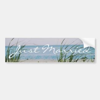 Beachy Wedding Bumper Sticker