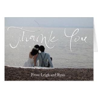 Beachy Wedding Thank You Cards