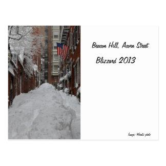 Beacon Hill, Acorn Street Postcard