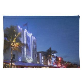 Beacon Hotel, Ocean Drive, South Miami Beach, Flor Placemat