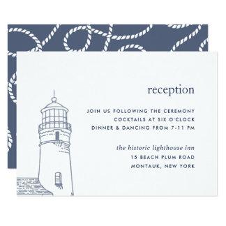 Beacon | Nautical Lighthouse Reception Card